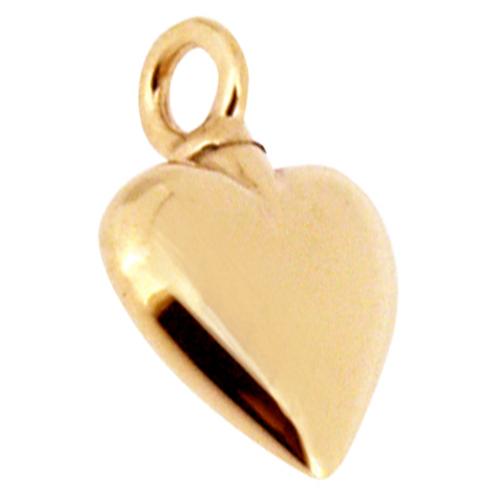 Yellow- & white gold ashes pendants