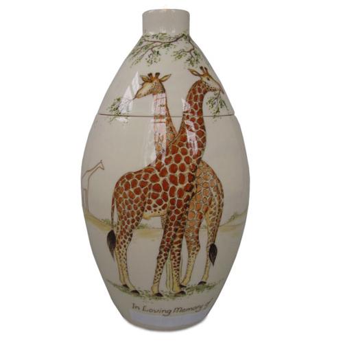 Painted keepsake urns